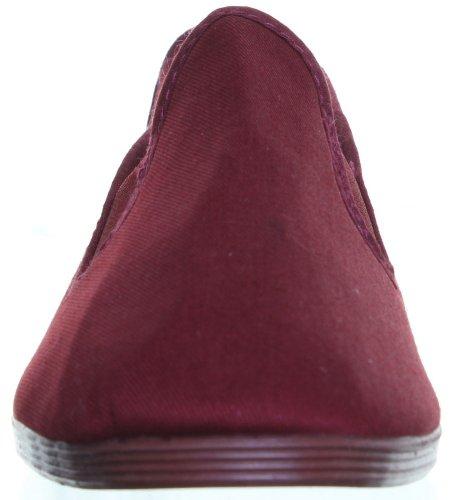 Chaussures-Flossy Plimsolls pour homme Tailles disponibles-dérapant sur toile pompes Rouge - Burgundy nt69