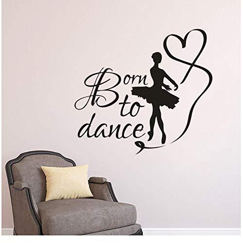 Wandaufkleber Geboren Zu Tanzen Zitat Wand Poster Tänze Studio Dekoration Tanzen Mädchen Tanzen Mit Band Wandtattoos Kunst