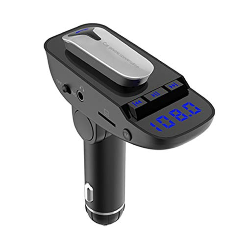 Uzinb Wireless V4.2 Car Bluetooth Handsfree Headset MP3 Player FM Transmitter A2DP Function Car Earphone A/v-modulator