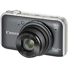 Canon PowerShot SX220 HS - Cámara Digital Compacta 12.1 MP (3 pulgadas LCD, 14x Zoom Óptico) - Gris (importado)