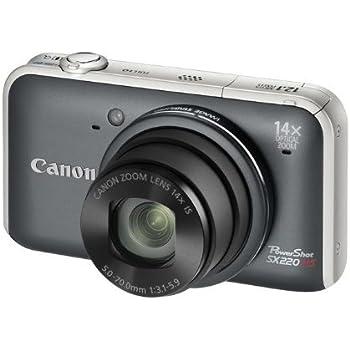 Canon PowerShot SX220 HS Appareil Photo Numérique 12,1 Mpix Zoom optique 14x Gris