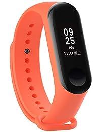 Recambio para Pulsera Actividad XIAOMI MI Band 3 SMARTWATCH MIBAND Correa Reloj (Naranja)