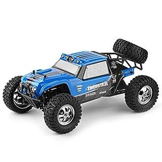 XuBa HBX 12889 1:12 4WD 2.4G RC Auto Thruster Drift LED Licht Fernbedienung Desert Truck Offroad Blau