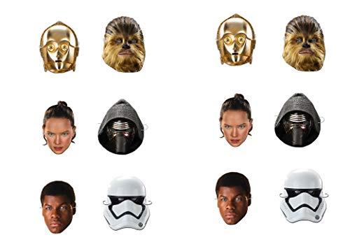 ALMACENESADAN 0549, Pack 12 Masken Disney Star Wars, Multicolor für Partys und Geburtstage
