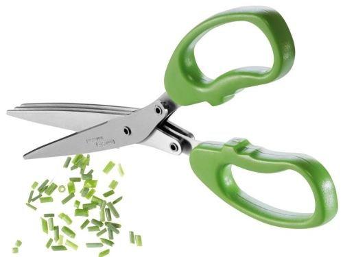 ERNESTO® Kräuterschere - 3 rostfreie Edelstahl-Klingenpaare (Küchen-Kräuterschere für Rechts- und Linkshänder geeignet)
