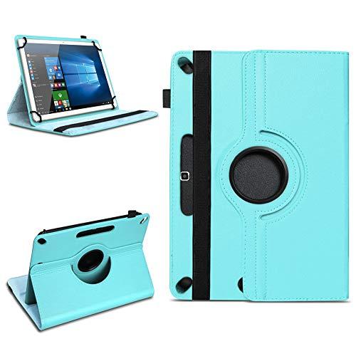 Tablet Tasche für 10 - 10.1 Zoll Hülle Schutzhülle Case Cover 360° Drehbar Neu, Farben:Türkis, Modell:Acepad A96