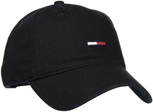 Hilfiger Denim Herren Baseball Thd Label Cap Schwarz (Black 002), One Size