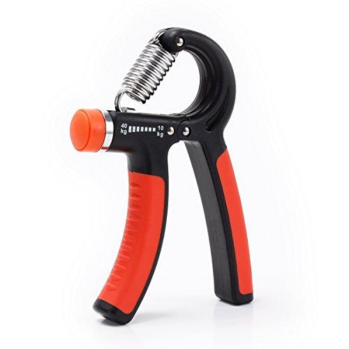 Hand-Trainingsgerät für die Entwicklung der Hand und Unterarmmuskulatur - Handgreif-Trainer einstellbar 20-88Lbs (10-40kg) - Not Just A Gadget
