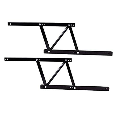 Sharplace Möbelscharnier Messing Klapptisch-Scharnier für Klapp- und Nähmaschinen-Tische, Tischscharnier Stahl, Scharnier zum Einlassen, Möbelbeschläge - 38x16.5cm