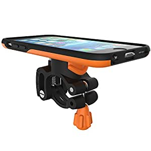 Morpheus Labs M4 BikeKit - iPhone 6/6s Bike Kit - Fahrrad Handyhalterung - iPhone 6/6s Hülle & Fahrradhalterung mit patentiertem Magnet-Verschluss incl. RainCover orange [Orange]
