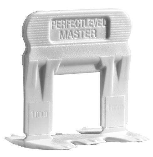 """T-lock TM 1/8""""(3mm) 250Clips"""" perfecto nivel Master TM profesional de baldosas de""""anti lippage–Sistema de nivelación (espaciadores sólo), rojo cuñas no incluidas y se venden por separado."""