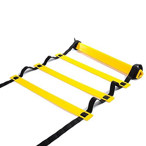 Homeself Agility Ladder Velocità scaletta per Calcio velocità formazione, caccia, corsa Fitness piedi formazione per aumentare la velocità, coordinamento e senso di equilibrio, 12-Rung