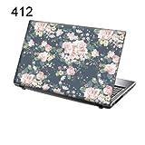 TaylorHe Folie Sticker Skin Vinyl Aufkleber mit bunten Mustern für 15 Zoll 15,6 Zoll (38cm x 25,5cm) Laptop Skin rosa Blumen