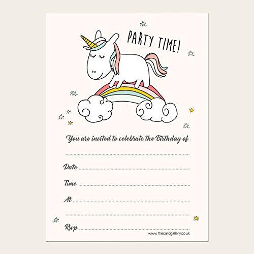 Childrens-Birthday-Invitations-Rainbow-Unicorn-Pack-of-10