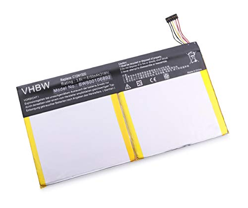 batteria tablet asus vhbw Batteria 8150mAh (3.8V) per Netbook Pad Tablet ASUS Transformer Book T100