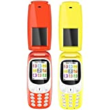 I KALL K3312 Combo (Red + Yellow) Dual Sim Flip Mobile With Vibration Feature, 1000 MAh Battery Capacity With 101 Days Replacement Warranty With 1 Year Manufacturer Warranty