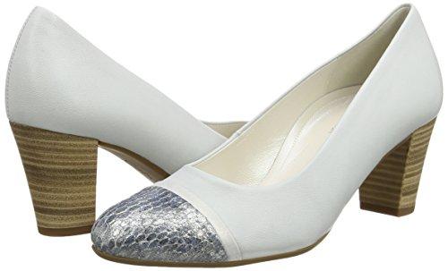 Gabor  Deal,  Damen Pumps , Silber - Silver (Dull Silver Leather/Dark Blue Vipera Glitter) - Größe: 40.5 EU (7 UK) -