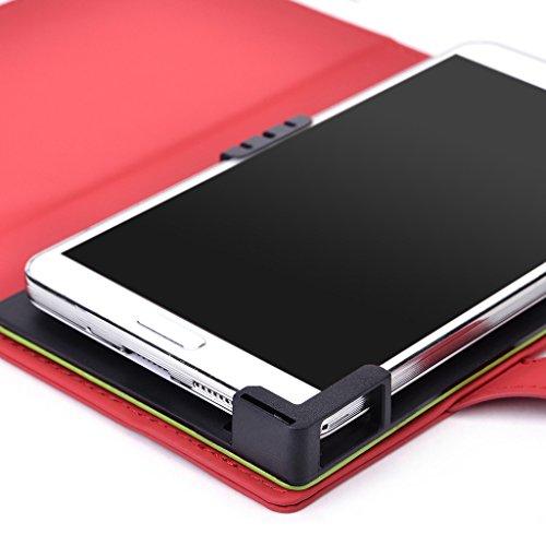 Kroo Étui de protection pour, ajustement universel samsung ATIV SE/Galaxy S5/Galaxy S5/Galaxy S5LTE-A Sport avec fonction support rouge rouge