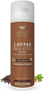 Bombay Shaving Company Coffee Shaving Foam,266 ml (33% Extra) with Coffee & Macadamia Seed