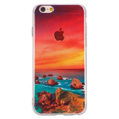 Felfy pour iPhone 6 Plus Silicone Case,iPhone 6S Plus Coque Coque Souple Transparente TPU Silicone en Gel Case Premium Ultra-Light Ultra-Mince Skin de Protection Pare-Chocs Anti-Choc Bumper pour Apple Récif