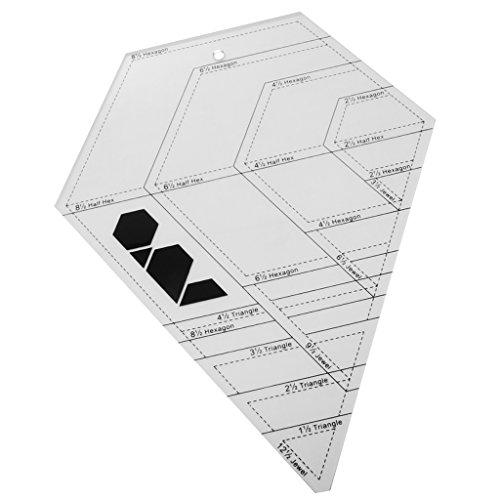 Hellery Acryl Lineal Quilt Patchwork Vorlage Quilten Diamant Sewing Werkzeug Handwerk (Acryl-quilt-vorlagen)
