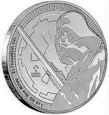 Preisvergleich Produktbild 1 Unze Silbermünze STAR WARS 1 oz Silber 999 in der Münzkapsel verpackt (Darth Vader 2018)