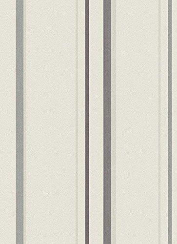 Preisvergleich Produktbild Vlies Tapete Erismann ISABELLA 5916-37 Streifen Struktur Beige Grau Glitzer