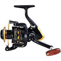 CDKZK Spinning Fishing Reel Pesca, 5.5: 1/4.7: 1 12 + 1 BB Impermeable Drag Spinning Reel Large Spool 18KG MAX Drag Agua Dulce de Agua Salada,6000