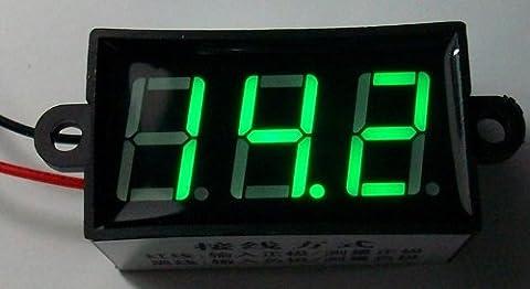 Super9shop V Panneau numérique LCD Compteur voltmètre 4. 0–30 V 0,56 cm (Vert)