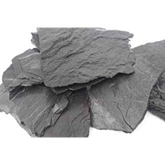 40 KG NATURAL BLACK SLATE SET OF STONES FOR AN AQUARIUM VIVARIUM ROCK MALAWI 41tF57lgrkL