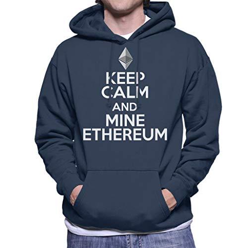 Keep Calm and Mine Ethereum Men's Hooded Sweatshirt