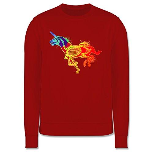 Comic Shirts - Einhorn Skelett - Herren Premium Pullover Rot