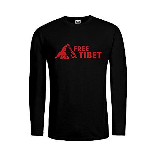 dress-puntos Herren Langarm T-Shirt Free Tibet 20drpt15-mtls00049-18 Textil -