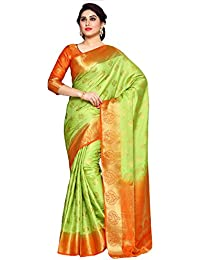 Mimosa By Kupinda Women's Art Silk Saree Kanchipuram Style (Latest Designer Sarees /Party Wear Sarees /New Collection...