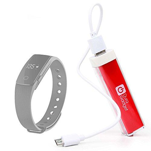 DURAGADGET Batería Externa Portátil ( 2600mAh ) En Rojo Para CELLULAR LINE 38070 / Denver BFH-12 / Teasi Core , Teasi ONE Extend + Cable MicroUSB A USB