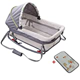 CNMMGL Babyschlafenkorb Babykorb Tragbare Neugeborenenbett Wiege, Baby Schütteln Bett, Geeignet Für 0-5 Monate Baby, (Matte Senden),1003
