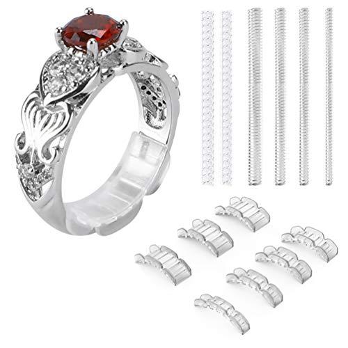 Regolatore ad anello invisibile per anelli larghi - Ring Guard, Ring Sizer, 7 misure adatta per anello uomo e donna