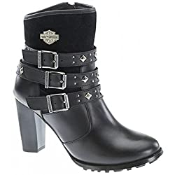 Harley Davidson Abbey Womens Ankle Biker Boots - 41tF6q9rUYL - Harley Davidson Abbey Womens Ankle Biker Boots