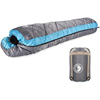 Jungle Slumber Mummy Sleeping Bag - Lightweight, Water Resistant and Breathable – 3-4 Season Extra Warm Hollow Fibre Filling & Compression Case - Great for Camping, Hiking & Festivals