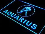 ADV PRO j445-b Aquarius ZODIAC Astrology Gift Neon Light Sign Barlicht Neonlicht Lichtwerbung