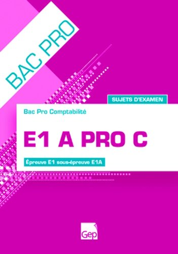 E1a Pro C - Pochette