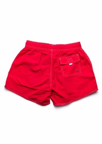 Hugo Boss Lobster Swim Short in Black Rouge - Bright Red (623)