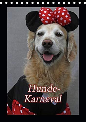 Hunde-Karneval (Tischkalender 2020 DIN A5 hoch): Zwei Hunde feiern Karneval (Monatskalender, 14 Seiten ) (CALVENDO - Comic Hunde Kostüm