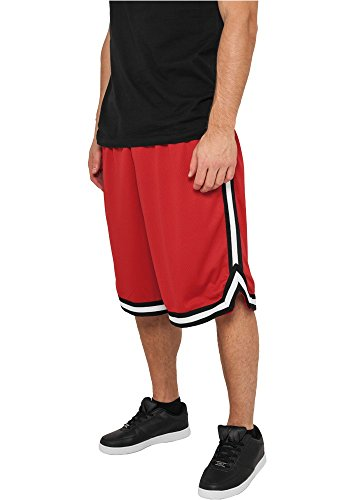 Preisvergleich Produktbild Urban Classics Stripes Mesh Shorts TB243, Größe:M;Farbe:red/black/white