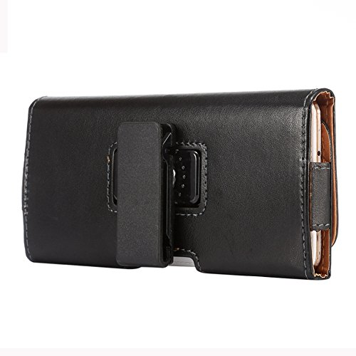 KM-WEN® PU Leder Lamb Muster Vertikal Leder Tasche Handgefertigte Gürteltasche Gürteltasche Design Männer Beutel Handy Hülle für iPhone 6 plus / iPhone 6s plus ,Samsung Galaxy A8 / S6 Edge+ ,Note5 / 4 Schwarz-6