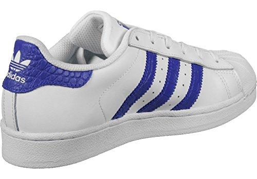 adidas Superstar J, Sneaker a Collo Basso Unisex – Bambini bianco (Ftwbla / Azufue / Azufue)