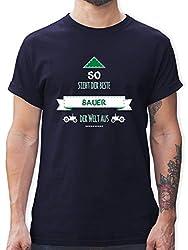Landwirt - So Sieht der Beste Bauer der Welt aus - M - Navy Blau - L190 - Tshirt Herren und Männer T-Shirts