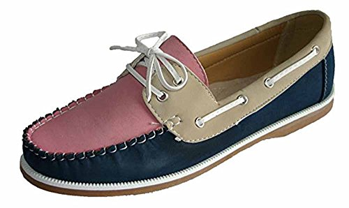 Footwear Sensation , Damen Mokassins Pink Navy Beige