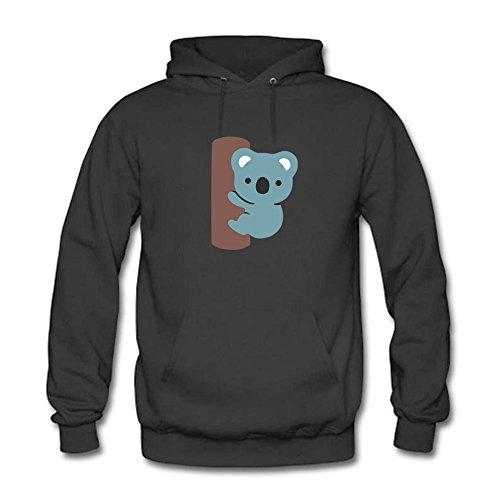 LizzieYun Herren Sweatshirt Hoodie Koala Silhouette Printed Hoodie Hoody mit Kapuze Jacke 3XL (Hoodie Jacke Bionic Apex)