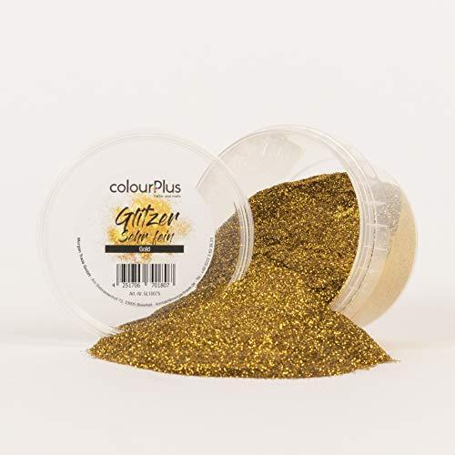 colourPlus Glitzer sehr fein (Gold) Glitter-Zusatz zum Veredeln von Wandfarben auf Wasserbasis oder zum Basteln, Made in Germany